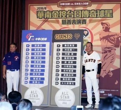 台湾OBと巨人OBのチャリティーマ...